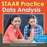 6th Grade Math STAAR Prep {DATA ANALYSIS & GRAPHS} TEKS 6.12ABCD, 6.13AB