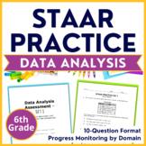 6th Grade Math STAAR Test-Prep Data Analysis TEKS Aligned