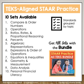 6th Grade Math STAAR Prep {Geometry & Measurement} TEKS 6.4H, 6.8ABCD, 6.11A