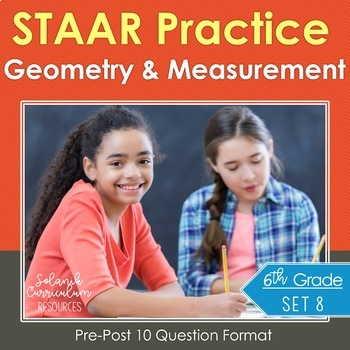 6th Grade Math STAAR Prep {Geometry & Measurement} TEKS 6.4H 6.8D 6.11A