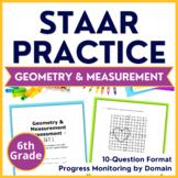 6th Grade Math STAAR Test-Prep Geometry & Measurement TEKS 6.4H 6.8D 6.11A