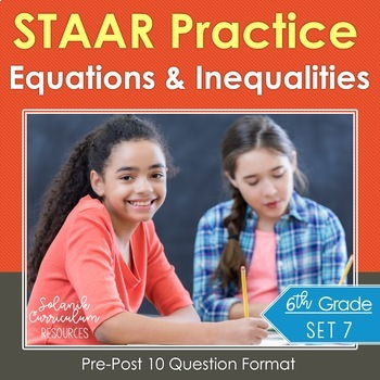 STAAR Math Assessments {Equations Inequalities Algebra} ST