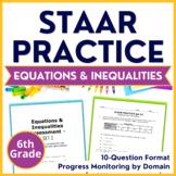 6th Grade STAAR Math {Equations & Inequalities} TEKS 6.9A 6.9B 6.9C 6.10A 6.10B