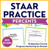 6th Grade Math STAAR Test Prep - Percents & Fractions - TEKS 6.4EFG, 6.5BC
