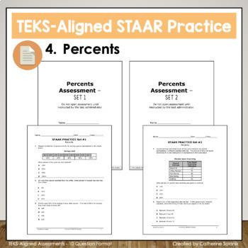 6th Grade Math STAAR Test Prep ~ Percents ~ TEKS 6.4E 6.4F 6.4G 6.5B 6.5C