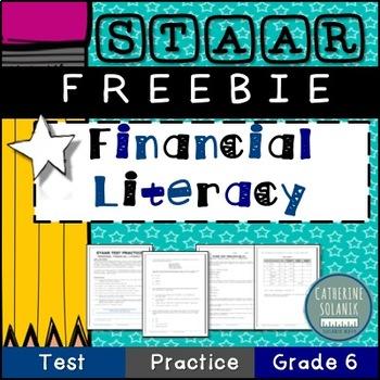FREE 6th Grade Math STAAR Prep {FINANCIAL LITERACY} Credit Checking ...