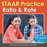 6th Grade Math STAAR Test Practice Ratios & Rates TEKS Aligned Test-Prep