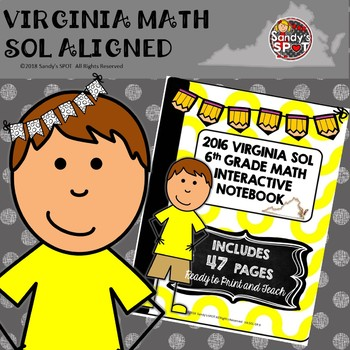 6TH GRADE MATH VIRGINIA SOL MATH INTERACTIVE NOTEBOOK