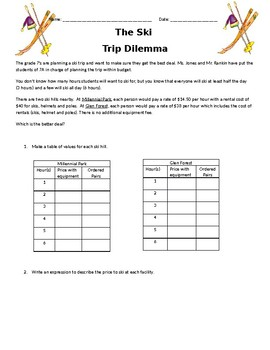 GRADE 7 DATA MANAGEMENT ASSIGNMENT ASSESSMENT, ONTARIO CURRICULUM, GRADE 7 MATH