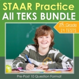 7th Grade TEKS Math STAAR BUNDLE {14 Assessments} Test Prep Review Practice