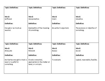 Middle School ELA Review Game Test Prep 8th Grade Common Core ELA Review Game