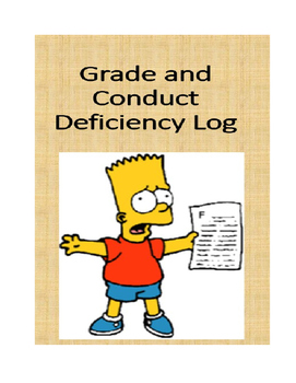 GRADE AND CONDUCT DEFICIENCY LOG (FOREVER FREE ON TPT)