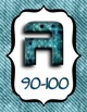 4 FOOT Grade Scale POSTER ~ Teal Grunge Coordinated Stripe