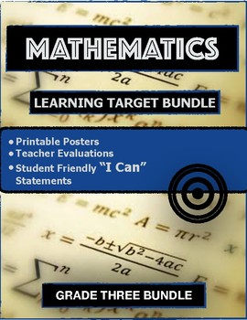 GRADE THREE MATH LEARNING TARGETS BUNDLE
