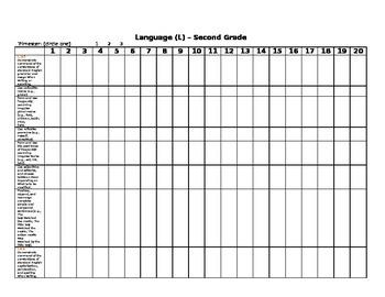 GRADEBOOK & ASSESSMENT TRACKING 2nd Grade Common Core Checklist/Gradebook