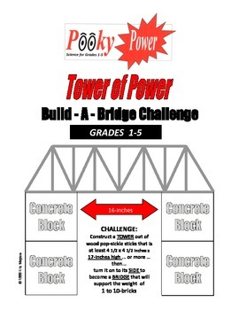TOWER OF POWER Build-A-Bridge Challenge  10-PAGES 1-WEEK L