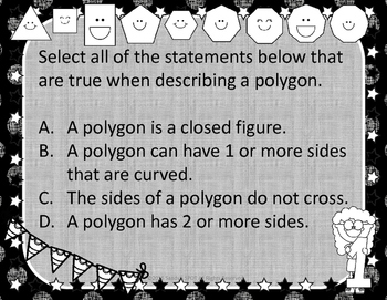 GRADES 3 & 4 VIRGINIA SOL MATH TASK CARDS POLYGONS