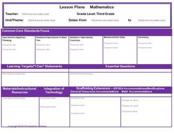 GRADES 3-5 Common Core Aligned Mathematics Interactive Les