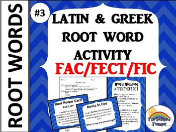 GRADES 4-6 GREEK AND LATIN ROOT WORD ACTIVITY GAME QUIZ #3