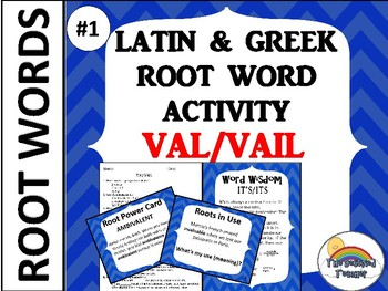 GREEK AND LATIN ROOT WORD ACTIVITY GAME QUIZ