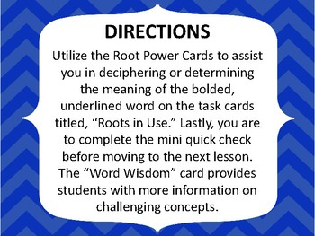GRADES 4-6 GREEK AND LATIN ROOT WORD ACTIVITY GAME QUIZ #5