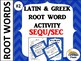 GRADES 4-6 GREEK AND LATIN ROOT WORD ACTIVITY GAME QUIZ BUNDLE 1