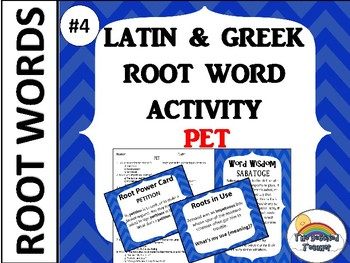 GRADES 4-6 GREEK AND LATIN ROOT WORD ACTIVITY GAME QUIZ BUNDLE 2