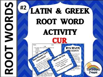GRADES 4-6 GREEK AND LATIN ROOT WORD ACTIVITY GAME QUIZ Set 2 #2
