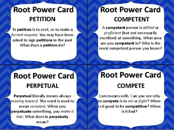 GRADES 4-6 GREEK AND LATIN ROOT WORD ACTIVITY GAME QUIZ Set 2 #4