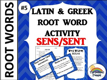 GRADES 4-6 GREEK AND LATIN ROOT WORD ACTIVITY GAME QUIZ Set 2 #5