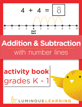 Grades K - 1 Addition and Subtraction with Number Lines: Activity Book Bundle