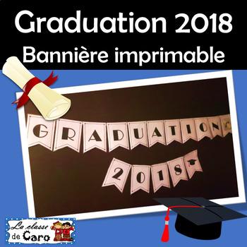 GRADUATION 2018 - Bannière imprimable