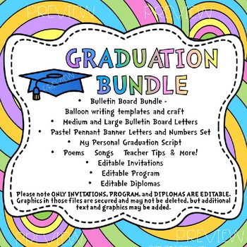 GRADUATION MEGA BUNDLE Pre K Kindergarten Oh The Places Theyll Go Theme