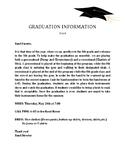 GRADUATION NOTE TO PARENTS