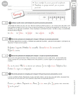 FRENCH GRAMMAR 5TH-6TH GRADE    GRAMMAIRE CM2