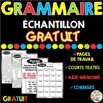 GRAMMAIRE - ÉCHANTILLON GRATUIT