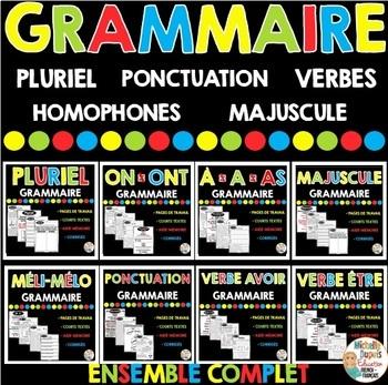 GRAMMAIRE - ENSEMBLE COMPLET