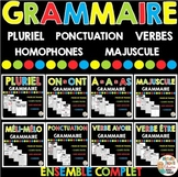French Grammar Bundle - GRAMMAIRE - ENSEMBLE COMPLET en français