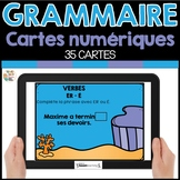 GRAMMAIRE - FRENCH BOOM CARDS™️  French Distance Learning