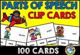 GRAMMAR ACTIVITIES (PARTS OF SPEECH CLIP CARDS: NOUNS VERBS ADJECTIVES CENTER)