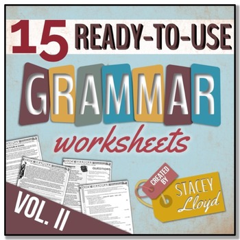 GRAMMAR ASSESSMENT: 15 Ready-To-Use Worksheets {VOL. II}