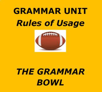 FOOTBALL GRAMMAR UNIT:  THE GRAMMAR BOWL   Fun Football Themed Usage Unit