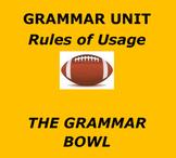 GRAMMAR BOWL    Fun Football Themed Usage Unit
