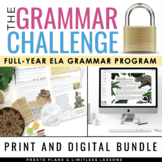 GRAMMAR CHALLENGE PROGRAM ESCAPE CHALLENGES DIGITAL & PRIN