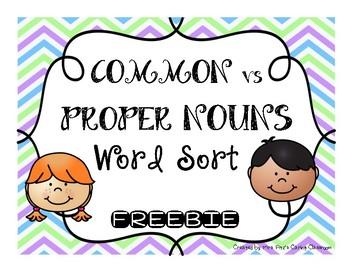 GRAMMAR: Common vs. Proper Noun Sort