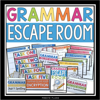 GRAMMAR ESCAPE ROOM ACTIVITY