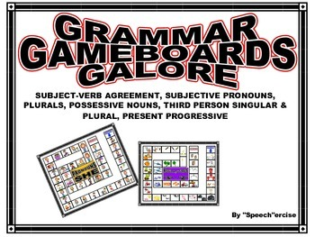 SPEECH THERAPY GRAMMAR GAME BOARDS GALORE