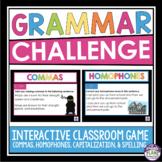 GRAMMAR GAME: HOMOPHONES, SPELLING, COMMAS, AND CAPITALIZATION