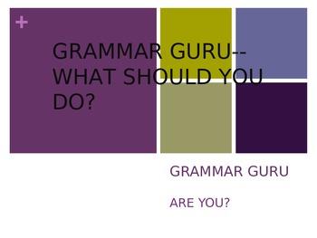 GRAMMAR GURU POWERPOINT PRESENTATION SERIES 1