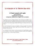 GRAMMAR: LE MASCULIN ET LE FEMININ (of words)